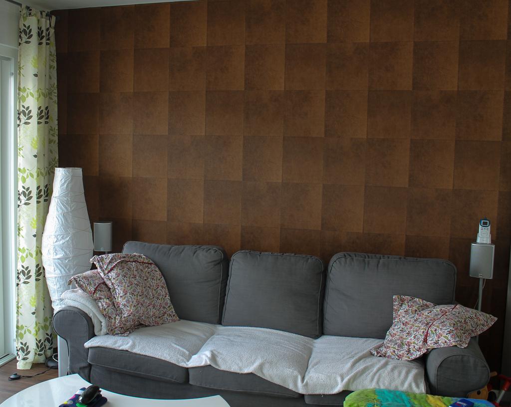 Wohnzimmerwand Mit Brauner Farbe Gestalten ~ Kreative Deko ...
